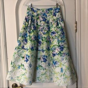 NWT stunning Kay Unger floral skirt
